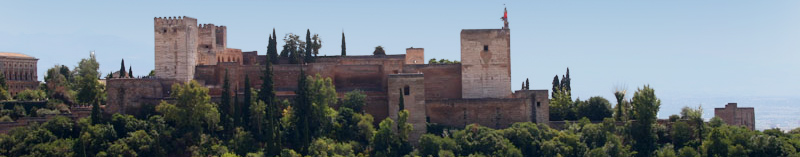 Luxury house with private pool in front of Alhambra in Granada, Spain